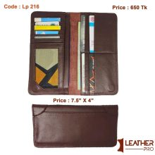 Genuine Leather Magnetic Long Wallet With Credit Card Slots