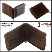 Small Leather Wallet With Zipper New Design